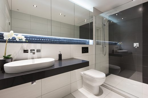 Ensuite illusion for Small bathroom designs nz
